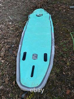 ISLE All Around Inflatable Stand Up Paddleboard (SUP) in aqua/blue 10.5 ft