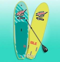 ISLE Inflatable Paddle Board Mountain Dew Baja Blast 10ft Stand Up Paddleboard