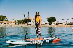 ISLE Surf & SUP 11' Explorer Inflatable Stand Up Paddle Board Package Aqua