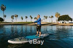 ISLE Surf & SUP 11' Explorer Inflatable Stand Up Paddle Board Sand
