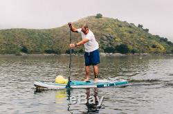 ISLE Surf & SUP 11' Explorer Inflatable Stand Up Paddle Board Yellow / Grey