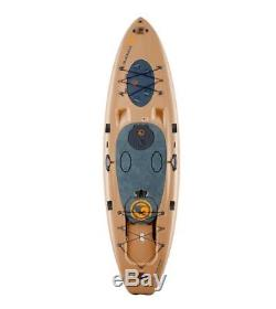 Imagine Surf V2 Wizard Angler SUP Stand Up Fishing Paddle Board Sand