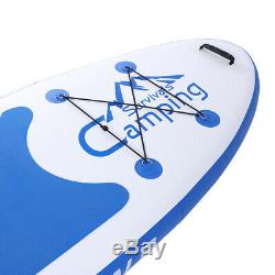 Inflatable 10'10 Stand Up Paddle Board 2 in 1 SUP+Kayak 6 Thickness Surfboard