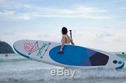 Inflatable 10ft Stand Up Paddle Board with Premium SUP Accessories! NEW, BLUE