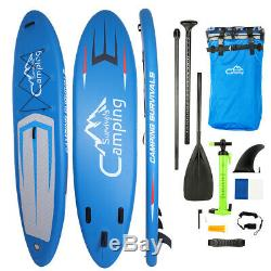 Inflatable 11' Stand Up Paddle Board 2 in 1 SUP+Kayak 6 Surfboard Fin with Pump