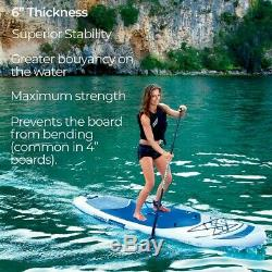 Inflatable SUP Paddle Board 10ft Stand Up Paddleboard Kayak 6 Thick Hydro\Force