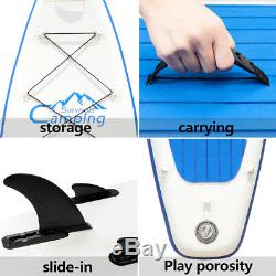 Inflatable SUP Stand Up Paddle Board 12'(6 Thick) Paddles Pump Fins Package New