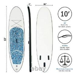 Inflatable Stand Up Paddle Board, 10 Thick SUP with Premium Accessories and Car