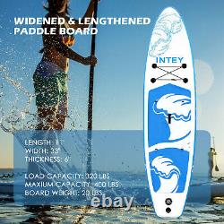 Inflatable Stand Up Paddle Board 11FT SUP Standing Paddleboard Surfboard, Blue