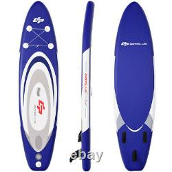 Inflatable Stand Up Paddle Board 11 Feet SUP Kit With Carry Bag Blue Surfboard
