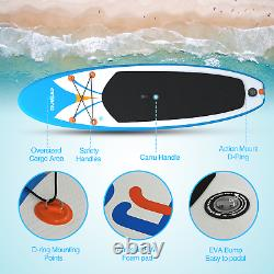 Inflatable Stand Up Paddle Board 4 Inches with One-Way Sup Dedicated Pump Backpack