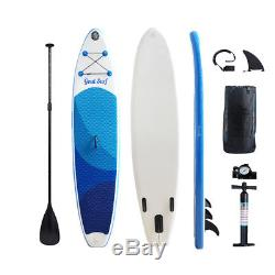 Inflatable Stand Up Paddle Board Large (6 Thick) SUP Surfboard Accessory Blue