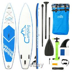 Inflatable Surfing Board SUP 12' Soft Stand Up Paddle Board Beginner