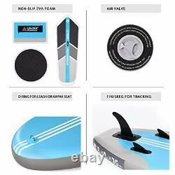 Leader Accessories 10'6 Inflatable Stand Up Paddleboard with Fins (6Thick) SET