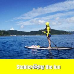 MOHOO Inflatable SUP Stand Up Paddle Board, Paddle, Pump & Carry Bag with Fin US