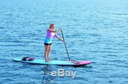 NEW Rave Sports 02568 Flight FL110 Soft Top Blue Pad Stand Up Paddle Board