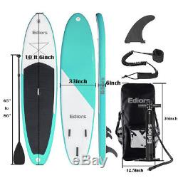 New 10FT(6thick) SUP inflatable Surfing Board Surf stand up paddle board Yoga