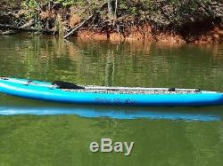 New 10' Stand Up Paddleboard 6 Board Width Inflatable SUP With Paddle Blue