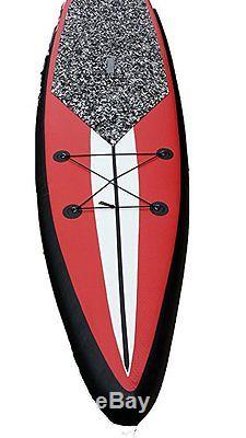 New 12' 6 Stand Up Paddleboard 6 Board Inflatable SUP Paddle Package Red