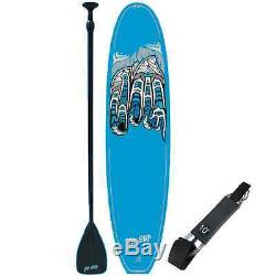 New NW SUP Soft Top 11' SUP/Stand Up Paddleboard/Blue With Paddle and Leash
