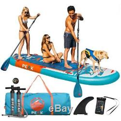 PEAK 12' Titan Royal Blue Large Multi Person Inflatable Stand Up Paddle Board