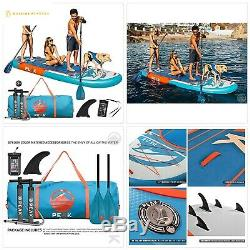 Peak 12' Titan Royal Blue Large Multi Person Inflatable Stand Up Paddle Board wi
