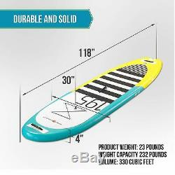Pro6 P6-195 ISUP Inflatable Stand-Up Paddle Board 118x30x4, 9'10 Aqua Marina