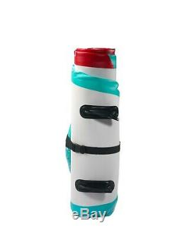 Pro6 P6-360 ISUP Inflatable Stand-Up Paddle Board 144x32x6, 12' 0 Teal-Red