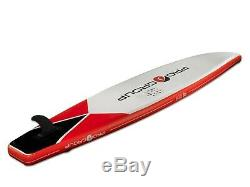 Pro6 P6-Tour ISUP Inflatable Stand-Up Paddle Board 150x30x6, 12' 6 Black Red