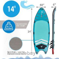 Quality 14' Inflatable Paddle Board Large Multi Person Inflatable Stand Up SUP
