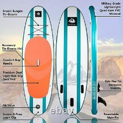 ROC Inflatable Stand Up Paddle Board with Free Premium SUP Accessories AQUA