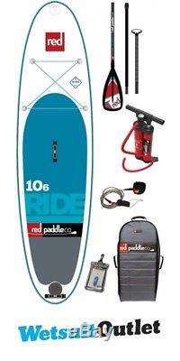 Red Paddle Co 10'6 Ride Inflatable Stand Up Paddle Board + Bag, Pump, Paddle & L