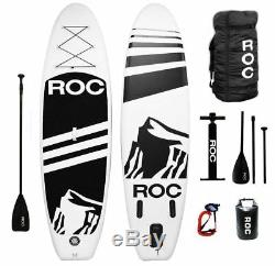Roc Inflatable Stand Up Paddle Board W Free Premium SUP Accessories & Backpac