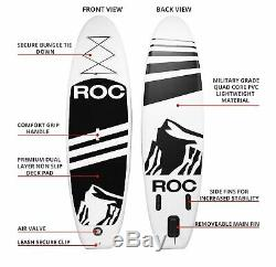 Roc Inflatable Stand Up Paddle Boards W Free Premium SUP Accessories & Backpa