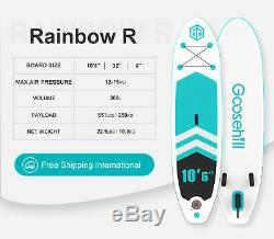 SCE Technology Inflatable Stand-Up Paddle Board Rainbow R Energy Playload 551lbs