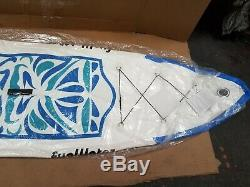 SUP Inflatable Stand Up Paddle Board 10'6x33x6 Paddle, Backpack, leash, pump