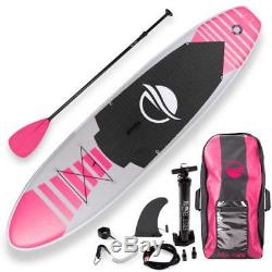 SereneLife 10.5 FT Inflatable Stand Up Paddle Board (SUP) With Accessories