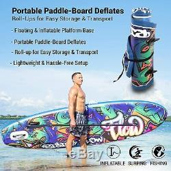 SereneLife Inflatable Stand Up Paddle Board (6 Inches Thick)