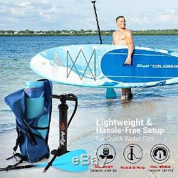 SereneLife Inflatable Stand Up Paddle Board (6 Inches Thick) BLUE