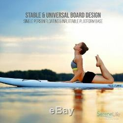Serene-Life SLSUPB06 10 FT Inflatable Stand Up Paddle Board (SUP) With Accessories