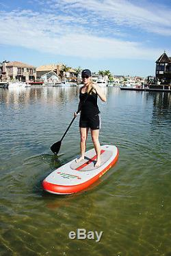 Solstice 35096 Inflatable Stand-Up Light Weight Paddleboard SUP Board withPaddle