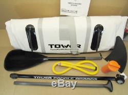 TOWER Inflatable 910 Stand Up Paddle Board (6 Inches Thick) Package NEW