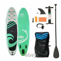 Used 10ft Inflatable SUP Paddle Board Stand Up Surfboard Surfing Paddleboard