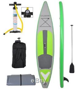 Vilano 12' (6 Thick) Inflatable Touring Race SUP Stand Up Paddle Board with All