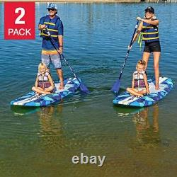 Wavestorm 9' 6 Stand Up Paddleboard Blue Camo 2-Pack