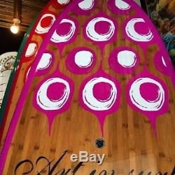 Womens Stand Up Paddle Board ART in SURF Da Small Fun 9'6 PINK