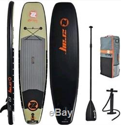 Z-Ray JS7 Fishing SUP 11' Inflatable Stand-Up Paddleboard Paddel & Pump Included